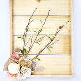 natural wood rustic paper flower wall decor