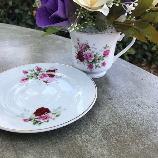 Floral Centerpiece In A Teacup Paper Flower Table Decor Centertwine