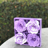 Paper Flower Art - Purple and White Girl's Room Decor
