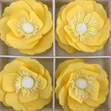 Yellow and White 3D Floral Wall Decor