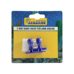 Algarde 2 Way Gang Valve for 6mm Airline