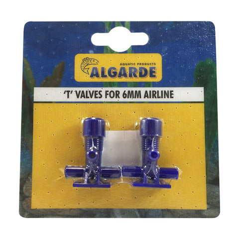 Algarde T Valves for 6mm Airline (Pack of 2)