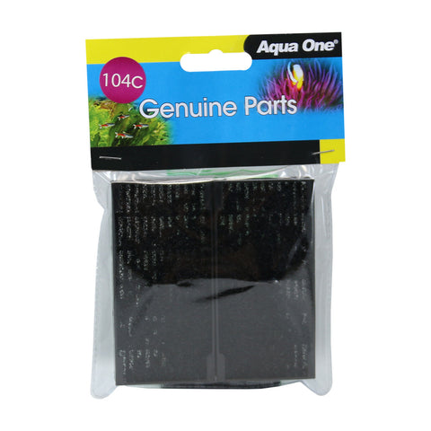 Aqua One 104C Polymer Wool and Carbon Cartridges Replacement Filter Media