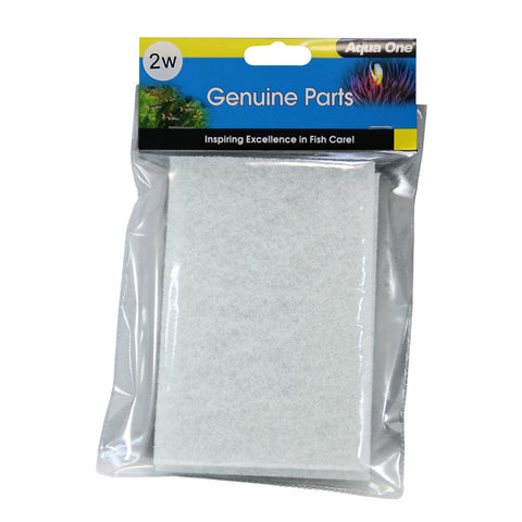 Aqua One 2W Wool Pads Replacement Filter Media