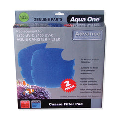 Aqua One 405S Coarse Filter Pads x 2 Replacement Filter Media