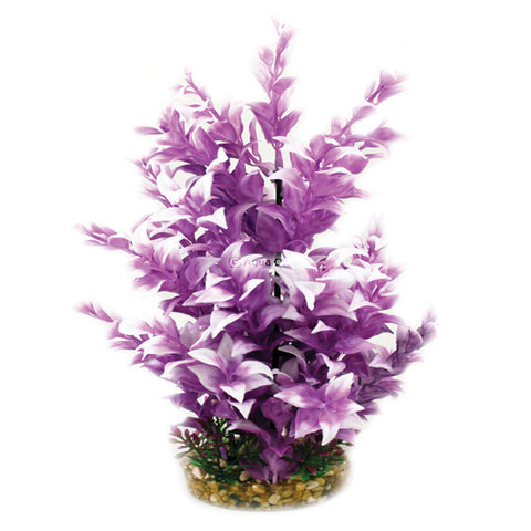 Aqua One Plastic Plant Purple Ludwigia Large