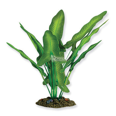 Aqua One Silk Plant Green/White Sword Extra Large