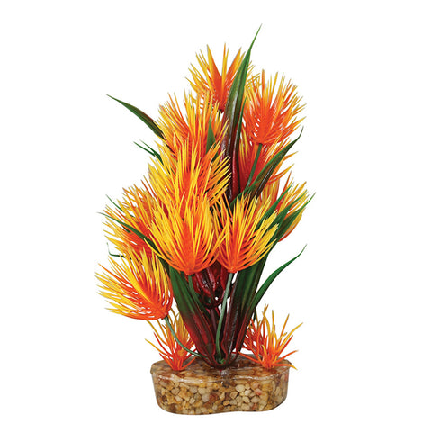 Aqua One Vibrance Orange Parrot Feather Artificial Plant S-M