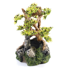Classic Aquatics Bonsai on Rocks Aquarium Ornament