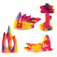 Classic Aquatics Fluorescent Assortment of Ornaments