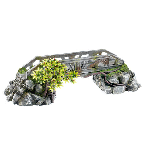 Classic Aquatics Large Stone Bridge with Plants