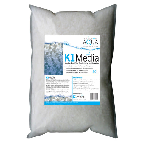 Evolution Aqua K1 Filter Media 50 Litres
