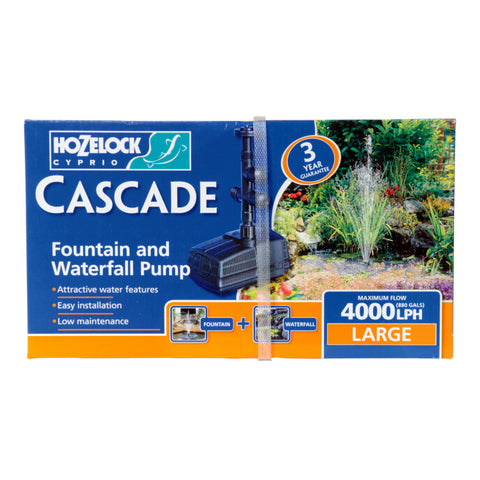 Hozelock Cascade Fountain or Water Feature Pump Large 4000L/H