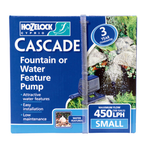 Hozelock Cascade Fountain or Water Feature Pump Small 450LPH
