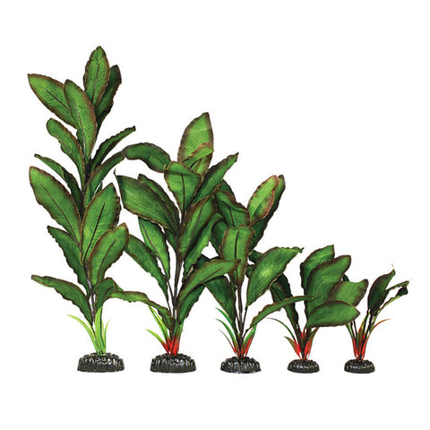 Hugo Kamishi Zen Garden Leafy Green/Red Artificial Silk Plant