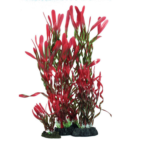 Hugo Kamishi Zen Garden Corkscrew Vallisneria Red & Green Plastic Plants