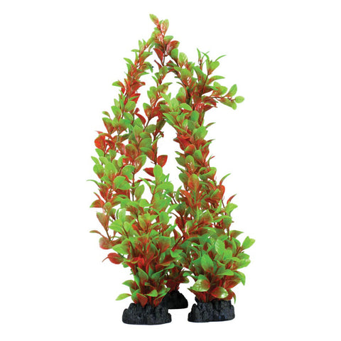 Hugo Kamishi Zen Garden Ludwigia Red/Green Artificial Plastic Plants