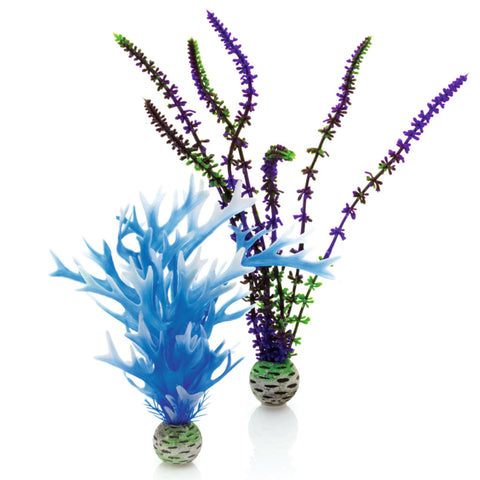 Oase biOrb Artificial Plants Medium Colour Pack Blue/Purple pack of 2
