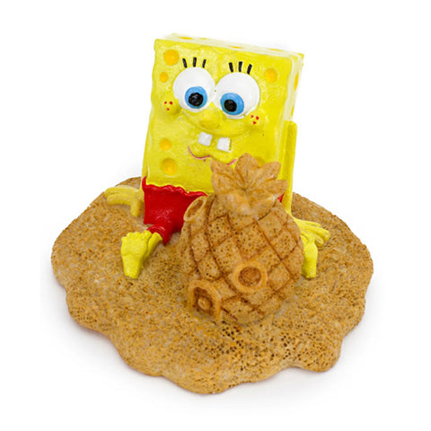Penn-Plax SpongeBob with Sand Castle Resin Ornament