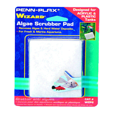 Penn-Plax Wizard Algae Scrubber Pad for Acrylic and Plastic Tanks