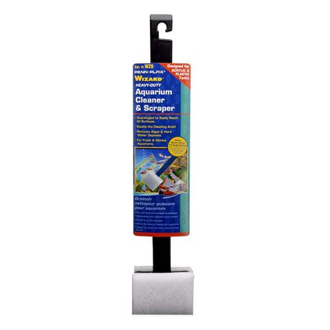 Penn-Plax Wizard Aquarium Cleaner & Scraper for Acrylic tanks