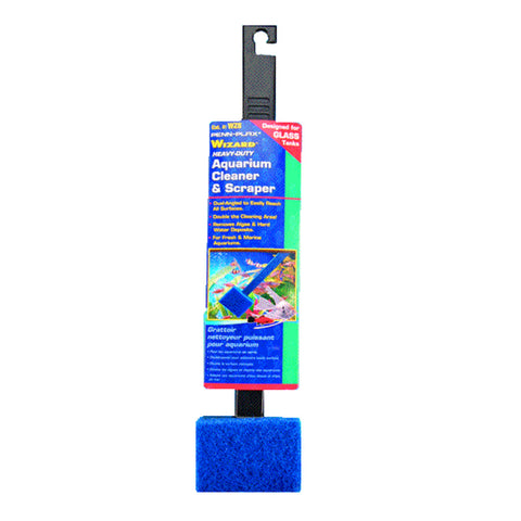 Penn-Plax Wizard Aquarium Cleaner & Scraper for Glass tanks