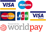 Powered by WorldPay - Visa, Visa Electron, Maestro, MasterCard & Master Pass
