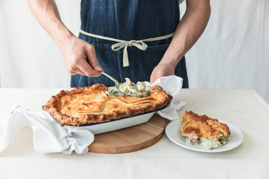 Chicken Ham & Leek Puff Pie