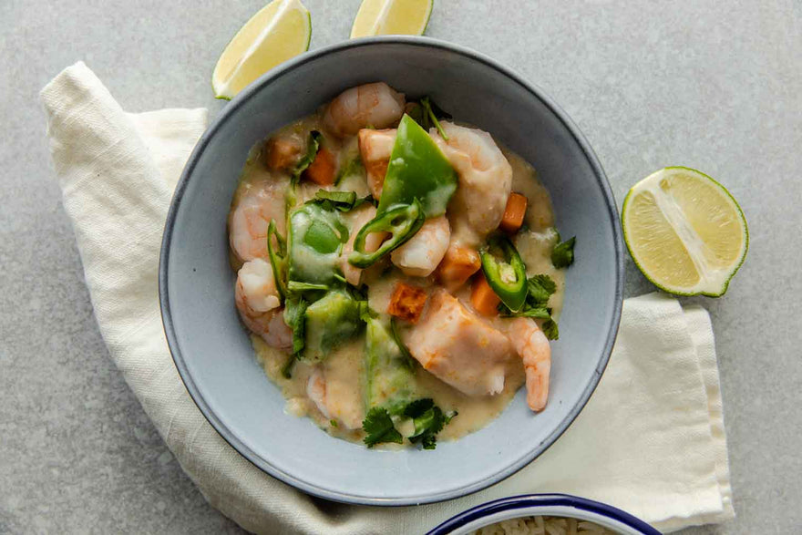 Thai Green Tiger Prawn Curry