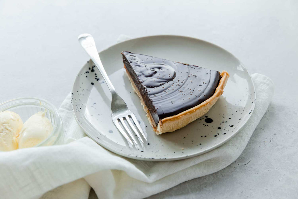 Dark Chocolate and Salted Caramel Tart