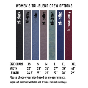 Follow It : women tri-blend tee