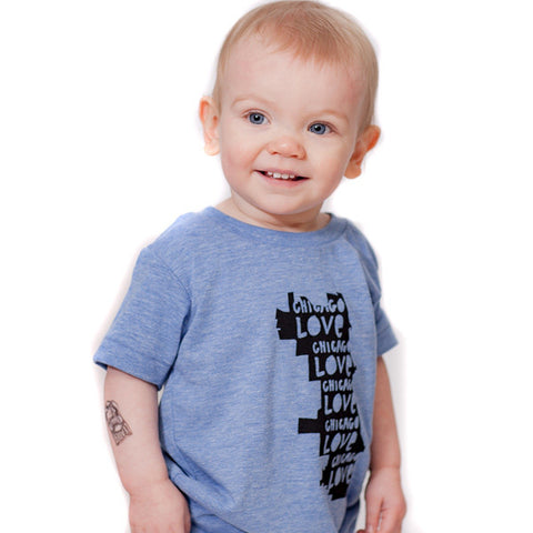 Chicago Love : kids tri-blend tee, Kids' Apparel - Megan Lee Designs