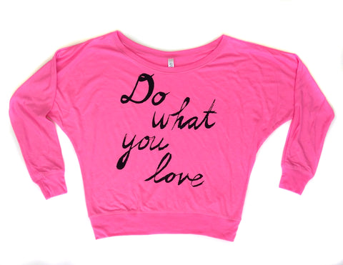 Do What You Love : Women's Flowy Long-sleeve Top - Megan Lee Designs