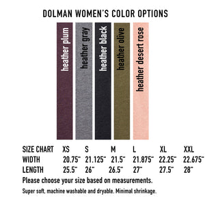 I'm speaking : Dolman Women's T