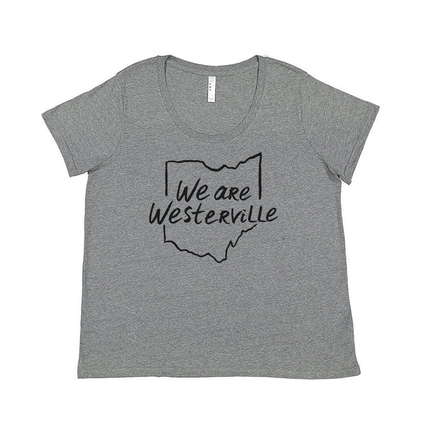 We are Westerville : Ohio Outline : Plus Women's T