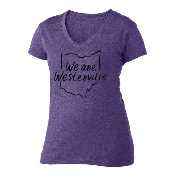We are Westerville : Ohio Outline : Women's V-neck