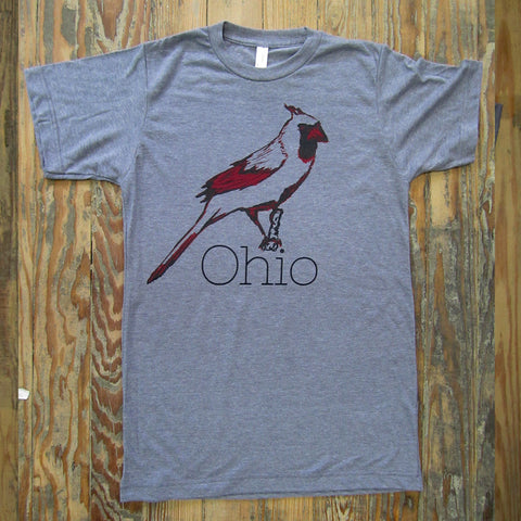 Ohio Cardinal : unisex tri-blend tee - Megan Lee Designs