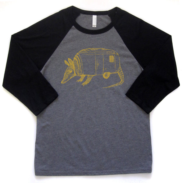 Airmadillo : unisex baseball tee - Megan Lee Designs