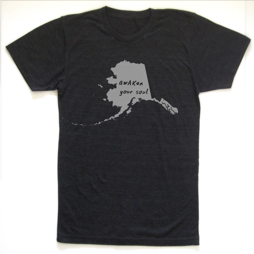 Alaska : awAKen your soul unisex tri-blend tee, Unisex Apparel - Megan Lee Designs