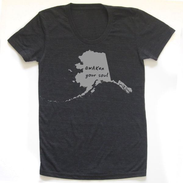 Alaska : awAKen your soul women tri-blend tee, Women's Apparel - Megan Lee Designs