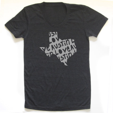 Austin Love : women tri-blend tee, Women's Apparel - Megan Lee Designs