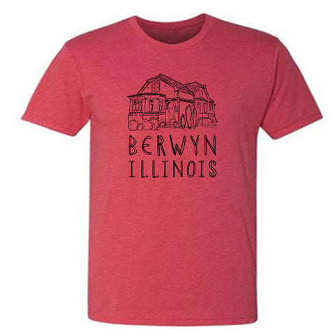 Berwyn Bungalow : unisex tri-blend tee - Megan Lee Designs