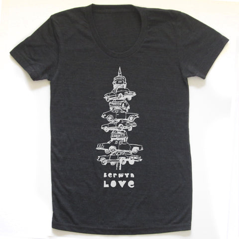 Berwyn Love : women tri-blend tee, Women's Apparel - Megan Lee Designs