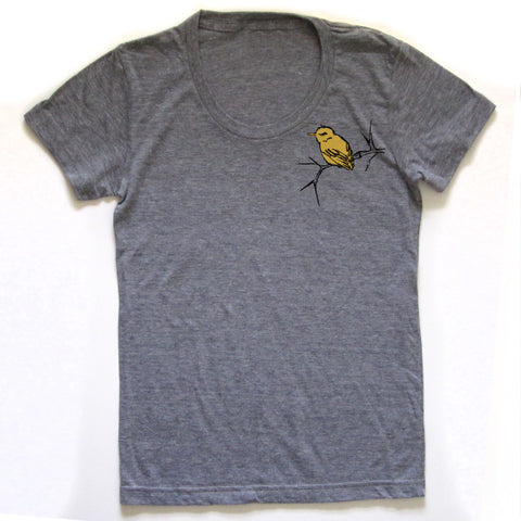 Bird and Branch : women tri-blend tee, Women's Apparel - Megan Lee Designs