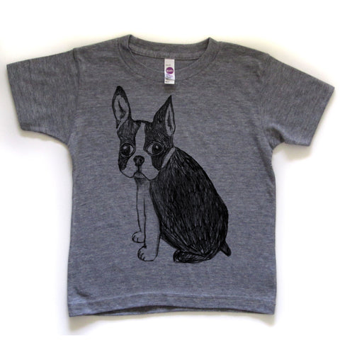 Boston Terrier : kids tee - Megan Lee Designs
