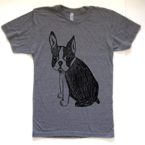 Boston Terrier : unisex tri-blend tee, Unisex Apparel - Megan Lee Designs