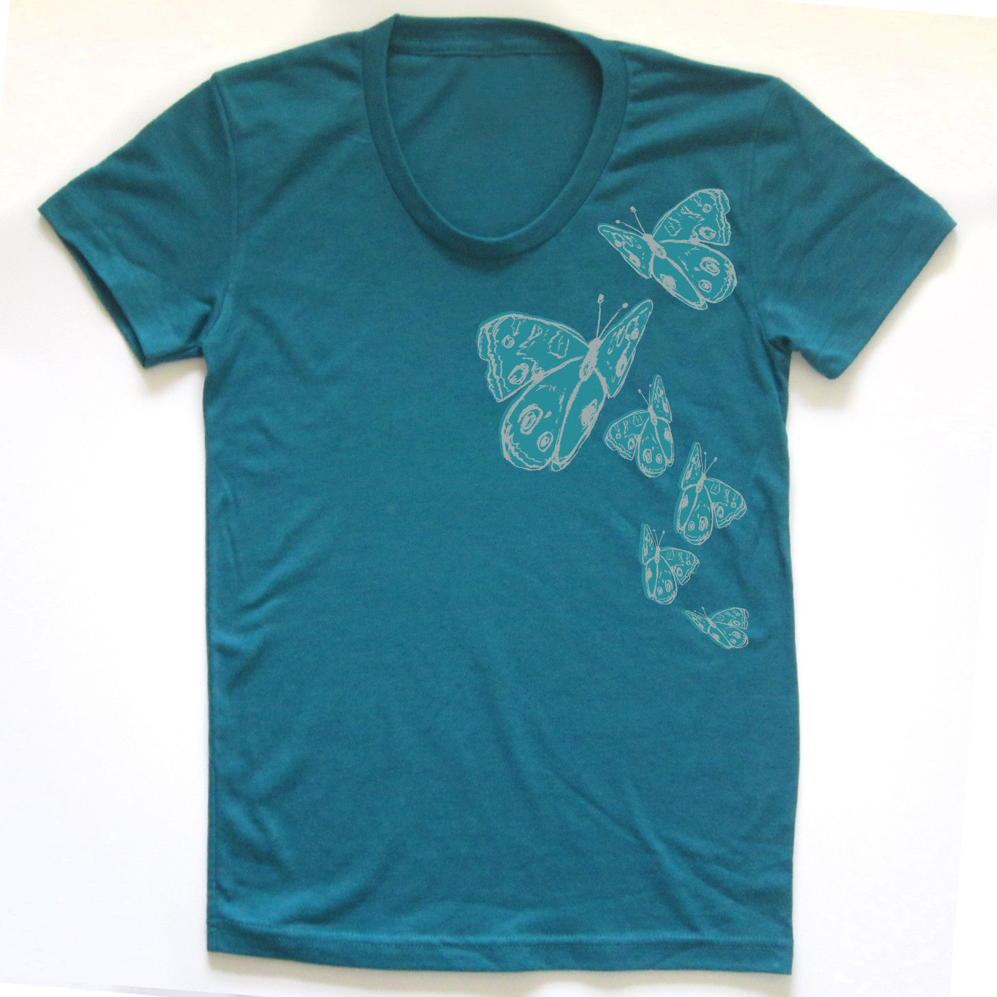 Butterflies : women tri-blend tee, Women's Apparel - Megan Lee Designs