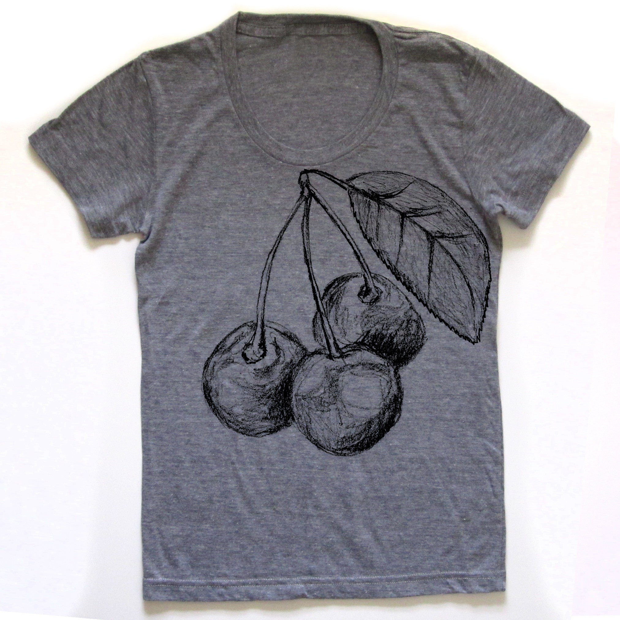 Cherries : women tri-blend tee, Women's Apparel - Megan Lee Designs