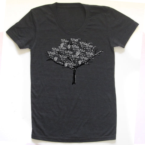 Cherry Blossom Tree : women tri-blend tee, Women's Apparel - Megan Lee Designs