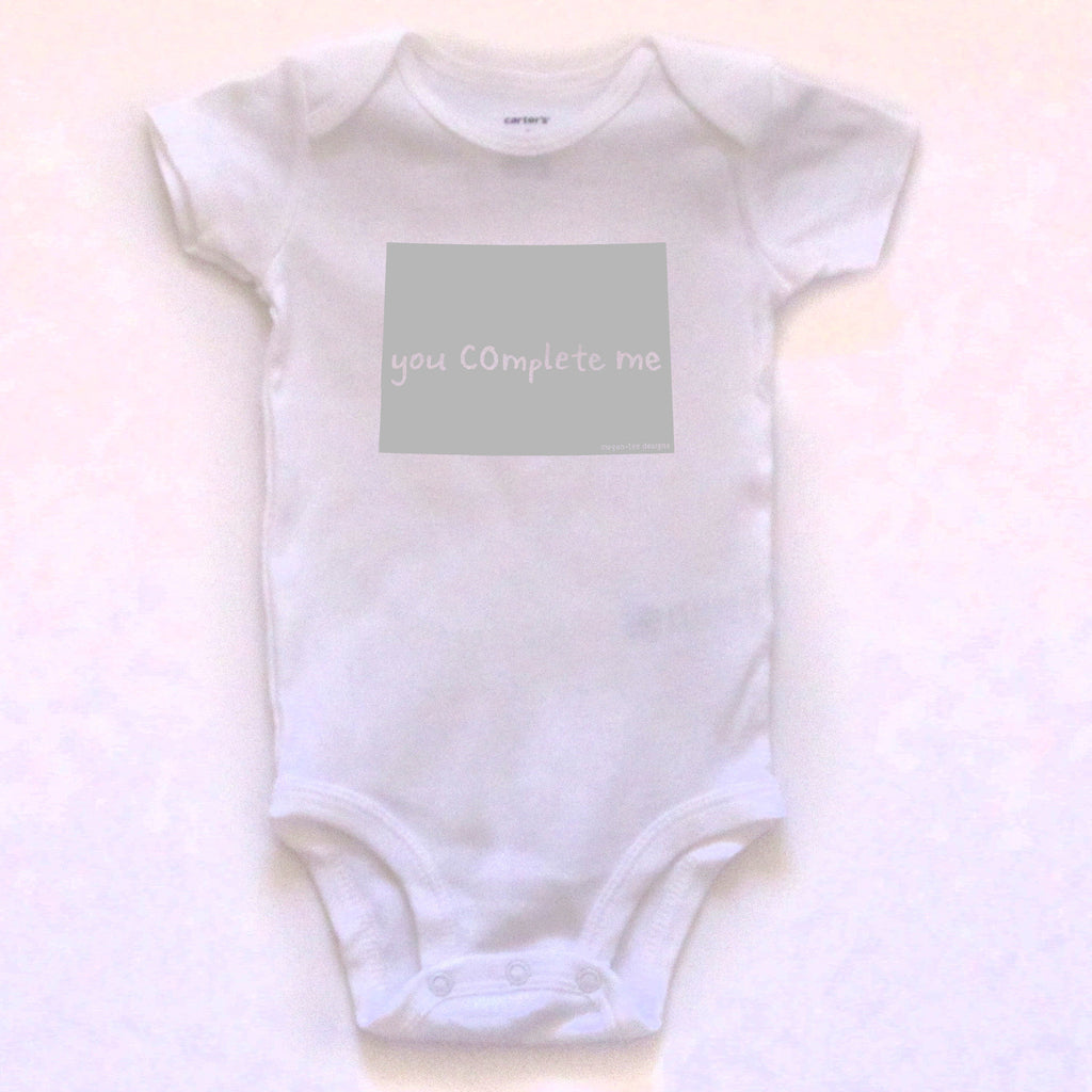 Colorado : you COmplete me bodysuit (white), Baby Apparel - Megan Lee Designs